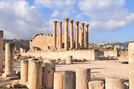 antiquity: Temple of Artemis in Jerash, Jordan, the Gerasa of Antiquity