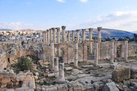 Ancient Roman city of Gerasa of Antiquity, modern Jerash, Jordan