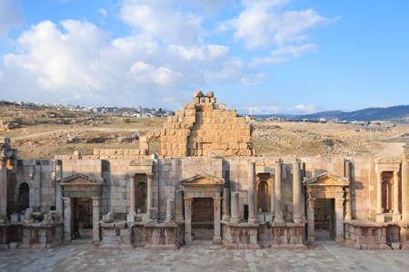 antiquity: South Theater, Ancient Roman city of Gerasa of Antiquity , modern Jerash, Jordan