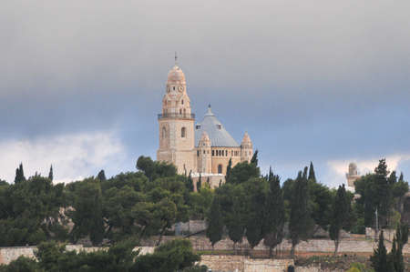 Mount Zion and the Abbey of the Dormition in Jerusalem, Israel photo