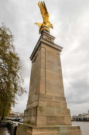 astra: Per Ardua Ad Astra (RAF Memorial) on Victoria Embankment in London.
