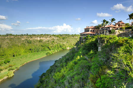 Tropical river Chavon in the Dominican Republic