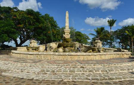 Ancient village Altos de Chavon - Colonial town reconstructed in Dominican Republic. Casa de Campo, La Romana, Dominican Republic, tropical seaside resort.