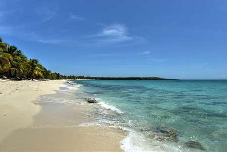 catalina: Beach shore along Isla Catalina, Dominican Republic