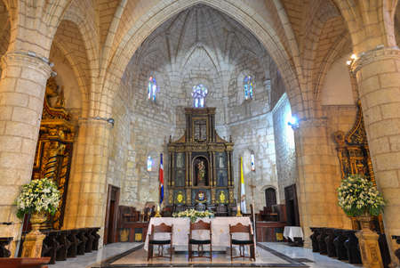 Cathedral of St. Mary of the Incarnation (Cathedral of Santa Maria la Menor) in Santo Domingo, the oldest cathedral in the Americas Editorial