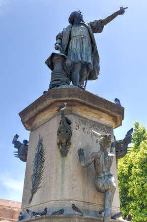 christopher columbus: Christopher Columbus Statue in Parque Colon, Santo Domingo, Caribbean Editorial