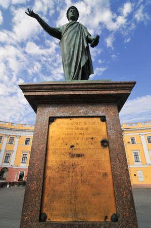 オデッサ、ウクライナの公爵リシュリュー像。 報道画像