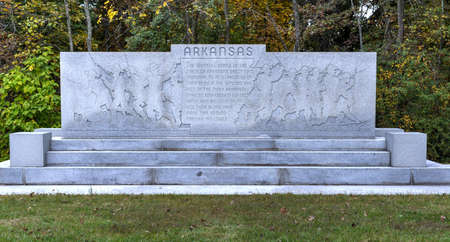Arkansas Memorial monument at the Gettysburg National Military Park, Pennsylvania.