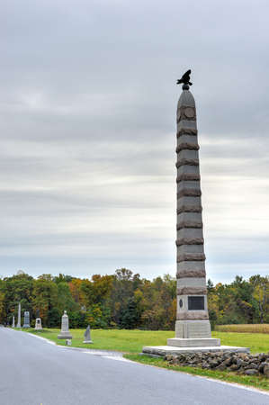 83rd: 83rd New York Infantry Memorial monument at the Gettysburg National Military Park, Pennsylvania.