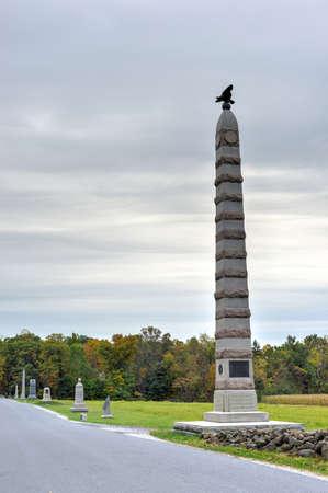 83rd: 83rd New York Infantry Memorial monument at the Gettysburg National Military Park, Pennsylvania.