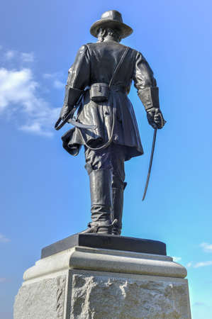 Alexander Hays Memorial monument at the Gettysburg National Military Park, Pennsylvania.