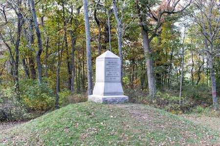 reynolds: John Fulton Reynolds Memorial monument at the Gettysburg National Military Park, Pennsylvania. Editorial