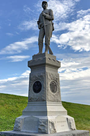 14th Regiment Memorial monument at the Gettysburg National Military Park, Pennsylvania.