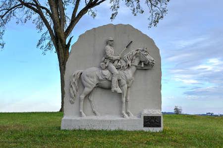 17th: 17th Pennsylvania Cavalry Memorial monument at the Gettysburg National Military Park, Pennsylvania.