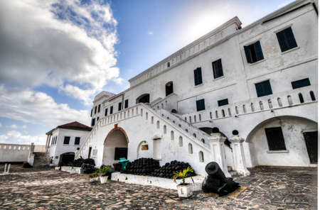 Cape Coast Castle is a fortification in Ghana built by Swedish traders for trade in timber and gold. Later the structure was used in the trans-Atlantic slave trade. Editorial