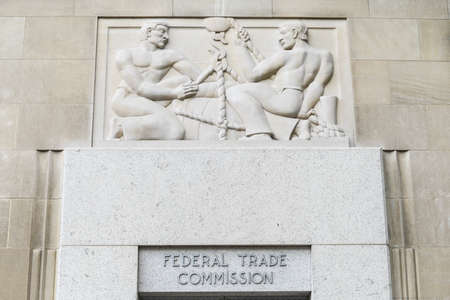 Federal Trade Commission Building in Washington, DC. 스톡 콘텐츠