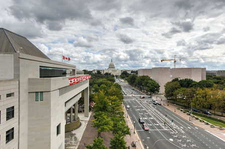 congressional: The US Capitol Building and Canadian Embassy in Washington, DC.
