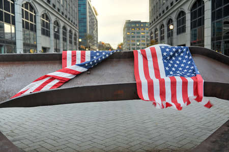september 11: World Trade Center Memorial in Jersey City dedicated to those who died, those who survived and those whose lives where changed forever on September 11, 2001