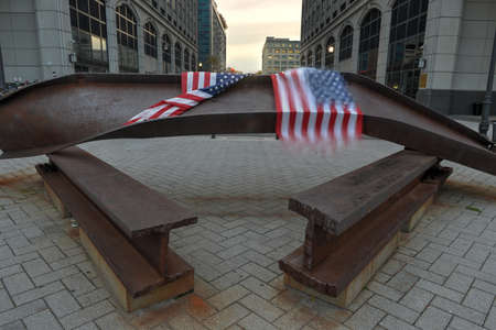 World Trade Center Memorial in Jersey City dedicated to those who died, those who survived and those whose lives where changed forever on September 11, 2001