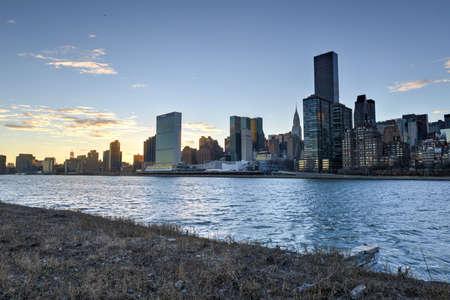 roosevelt: View of the Manhattan Skyline from Roosevelt Island