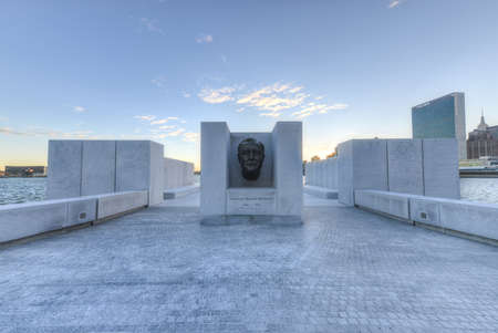 roosevelt: The Franklin D. Roosevelt Four Freedoms Park is a four-acre memorial to Franklin D. Roosevelt in NYC that celebrates the Four Freedoms he articulated in his 1941 State of the Union address.
