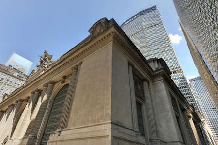 42nd: NEW YORK, NEW YORK  - August 17, 2013: Grand Central Terminal with MetLife Building of New York in the background. Grand Central Terminal is a commuter rail terminal station at 42nd Street and Park Avenue. Editorial