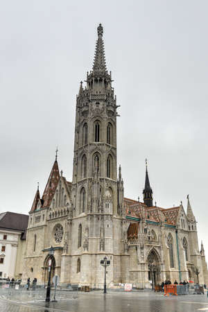castle district: View of the Matthias Church, built at the heart of Budas Castle District.