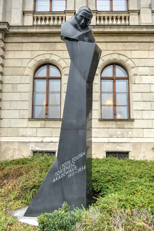 martyr: Statue of I. Toth Zoltan, Hungarian historian, dean of the Faculty of History at ELTE, 1956 revolution martyr. Editorial