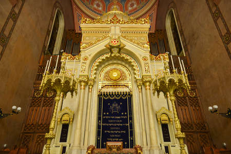 BUDAPEST, HUNGARY - DECEMBER 1, 2014: Great Synagogue in Budapest, Hungary. It is the second largest synagogue in the world.