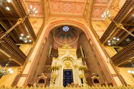zionism: BUDAPEST, HUNGARY - DECEMBER 1, 2014: Great Synagogue in Budapest, Hungary. It is the second largest synagogue in the world.