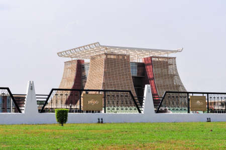 ACCRA, GHANA - FEBRUARY 23, 2012: The Flagstaff House, commonly known as Flagstaff House, is the presidential palace in Accra which serves as a residence and office to the President of Ghana.