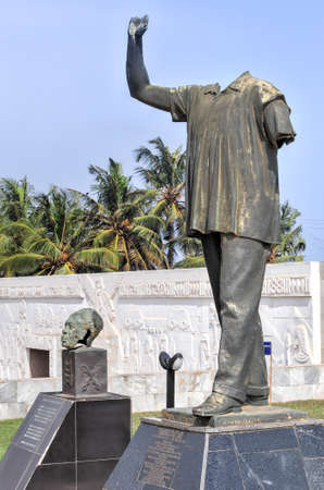 coup: The original statue of Dr. Kwame Nkrumah which stood in front of parliament house, which was vandalized as part of the 1966 coup d Editorial