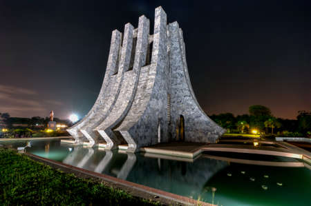 Kwame Nkrumah Memorial Park at night. Kwame Nkrumah Memorial Park (KNMP) is a National Park in Accra, Ghana named after Osagyefo Dr. Kwame Nkrumah, the founding father of Ghana. Editorial