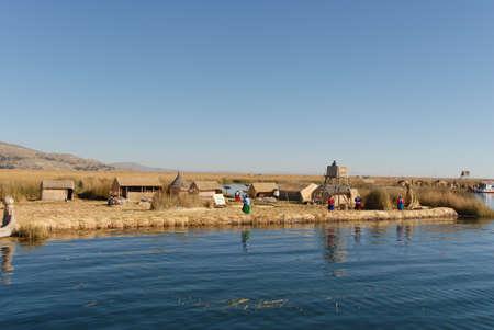 riparian: Scenery around Lake Titicaca in Peru, South America. Stock Photo