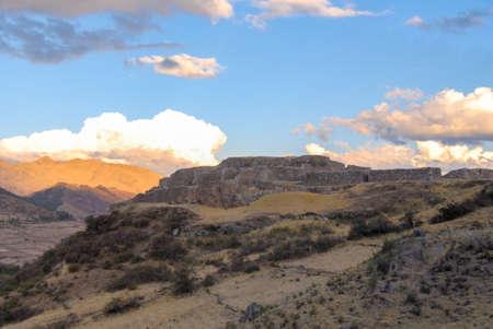 sacred valley of the incas: Puca Pucara, Inca ruins at Cuzco, Peru along the Sacred Valley of the Incas.
