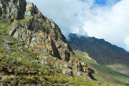 incan: Montagne lungo il sentiero Inca tra Cuzco e Macchu Picchu, in Per�.