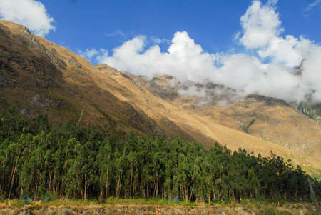 incan: Mountains along the Incan Trail between Cuzco and Macchu Picchu, Peru.