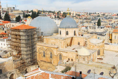 jewish home: Church of the Holy Sepulchre in the Old City of Jerusalem.