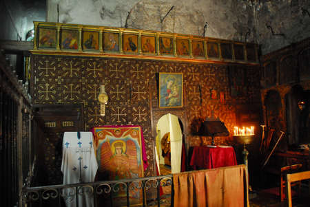 monotheism: JERUSALEM, ISRAEL - JANUARY 20, 2007: Interior of the Holy Sepulchre Church.