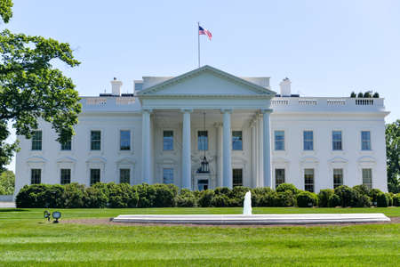 The White House in Washington, DC. The residence of the president of the United States.