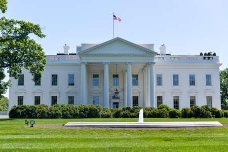 case colorate: La Casa Bianca a Washington, DC. La residenza del presidente degli Stati Uniti.