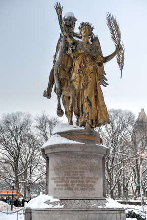 augustus: William Sherman memorial located in New York City on the corner of Central Park South by Augustus Saint-Gaudens. William Sherman was a United States general who served in the American Civil War. Editorial