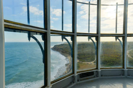 View from the Montauk Point Lighthouse at the edge of Long Island, New York