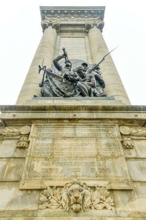 syracuse: Soldiers and Sailors Monument on Clinton Square in Syracuse, NY Stock Photo