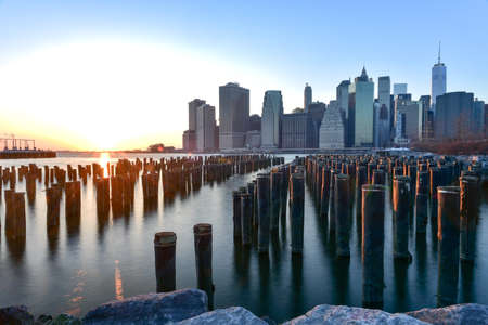 heights: New York City Skyline from Brooklyn Heights.