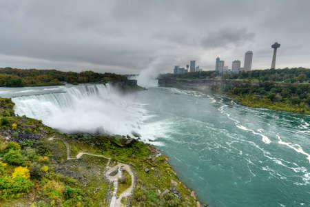 Niagara Falls from New York, USA Landscape View