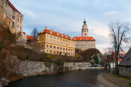 Castle of Cesky Krumlov in South Bohemia, Czech Republic