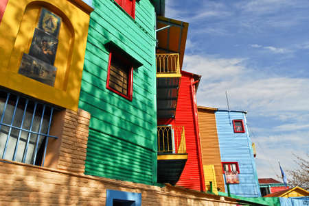 Colorful Caminito street in the La Boca neighborhood of Buenos Aires, Argentina