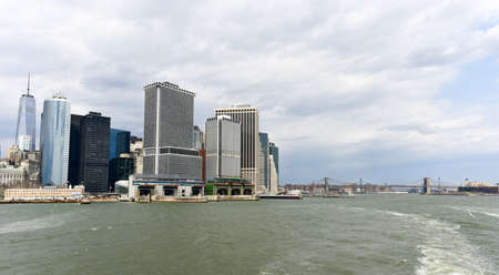 lower manhattan: View of Lower Manhattan and the Financial District of New York.