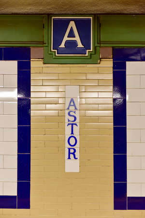 cooper: New York, USA - May 31, 2015: Astor Place  Cooper Union Subway Station on the 6 Line. Part of the MTA of New York City in Manhattan. Editorial